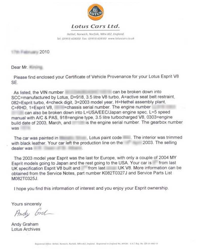 Lotus certificate potash lane hethel norwich norfolk nr14 8ez england t 44 01953 608247 f 44 01953 608253 agrahamlotuscars grouplotus yadclub Image collections